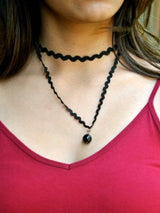 Black Wave Linked Choker - Uptownie