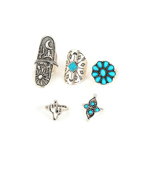 Boho Burst Ring Set - Uptownie