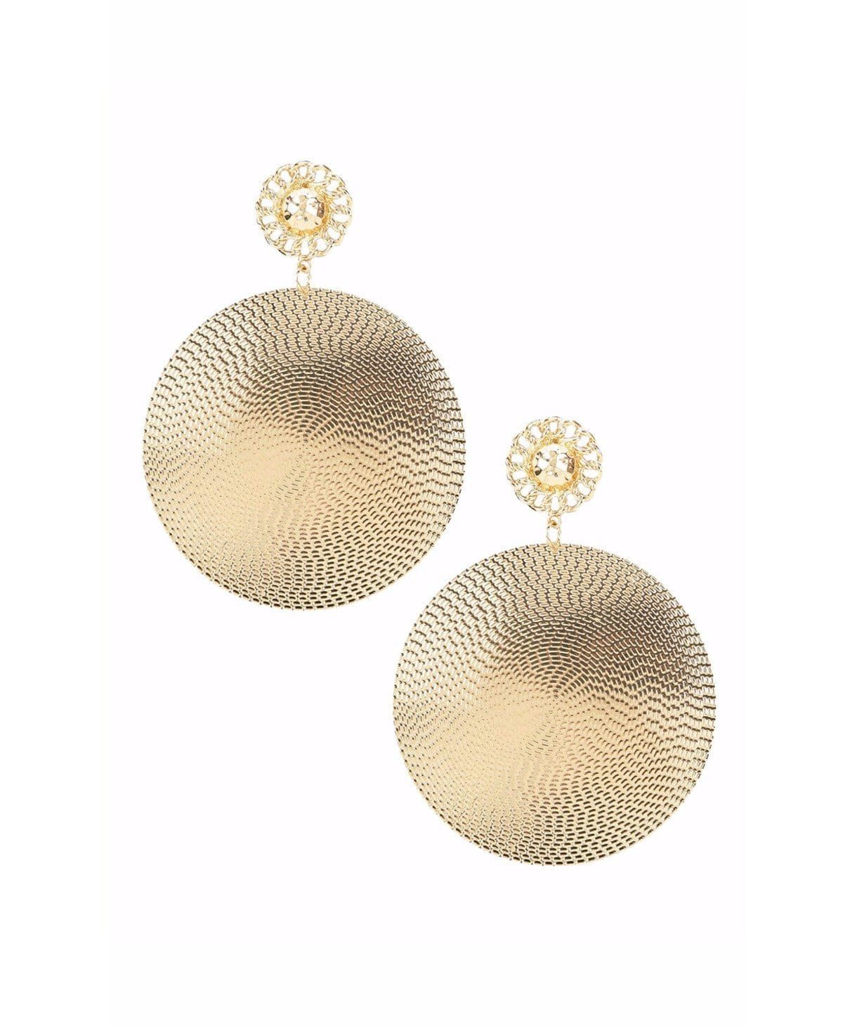 Brimming Gold Earrings - Uptownie