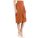 Uptownie Brown Adjustable Culottes 4 summer sale