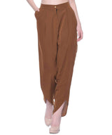 Uptownie Brown Crepe Tulip Pants 3 clearance sale