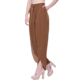 Uptownie Brown Crepe Tulip Pants 4 trendsale