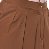 Uptownie Brown Crepe Tulip Pants 7 summer sale