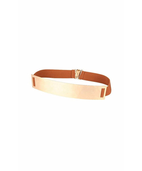 Brown Metallic Belt - Uptownie