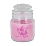 Rose Scented Natural Wax Medium Jar Candle (pack of 2) - Uptownie