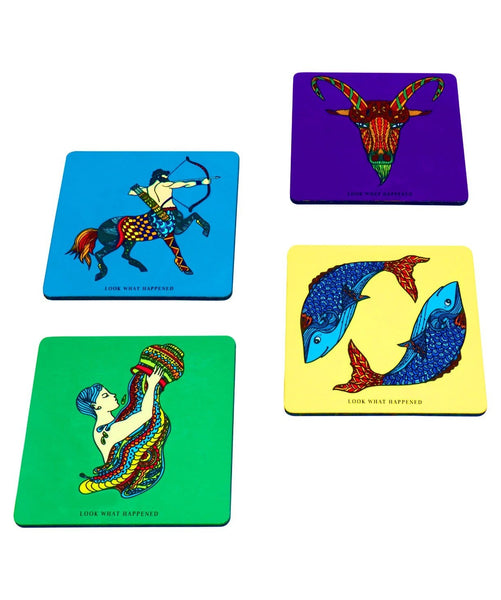 Coaster Zodiac Series 3 (set of 4) - Uptownie