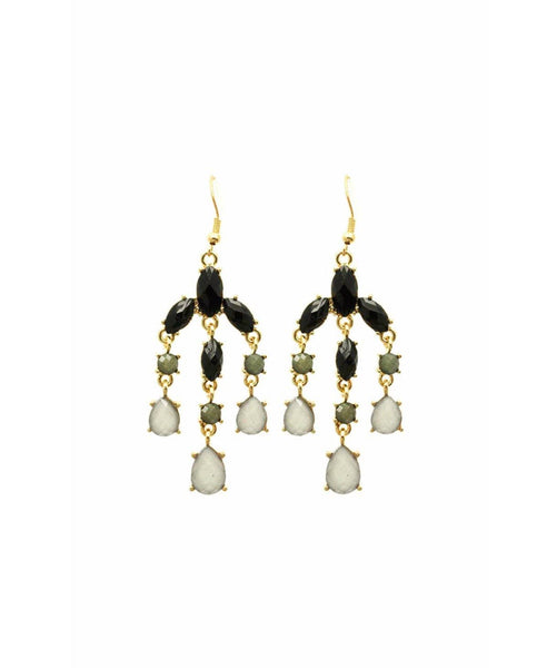 Charcoal Chandelier Earrings - Uptownie