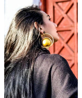 Circle Of Gold Earrings