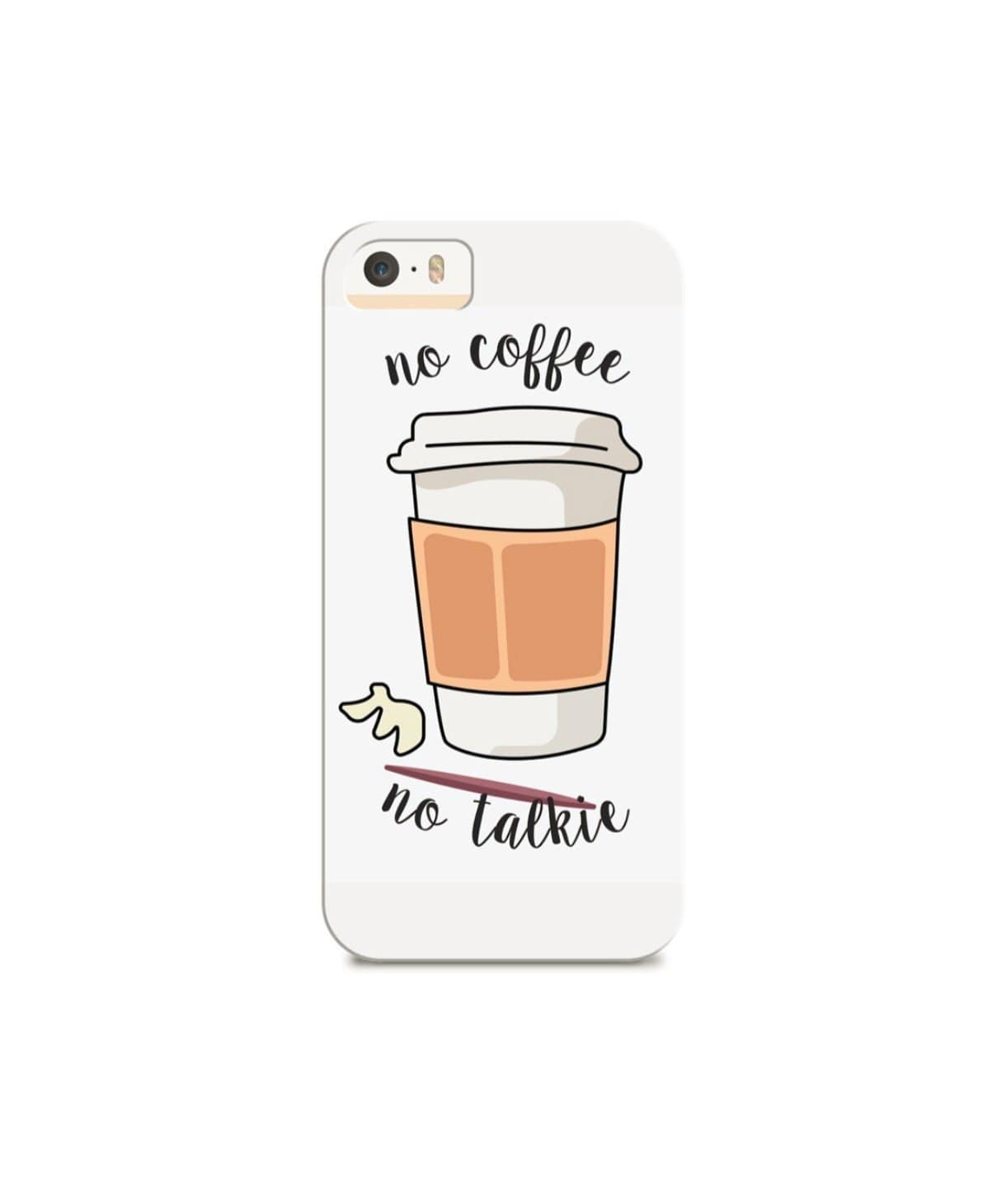 Coffee First IPhone Cover (Personalisation Available) - Uptownie