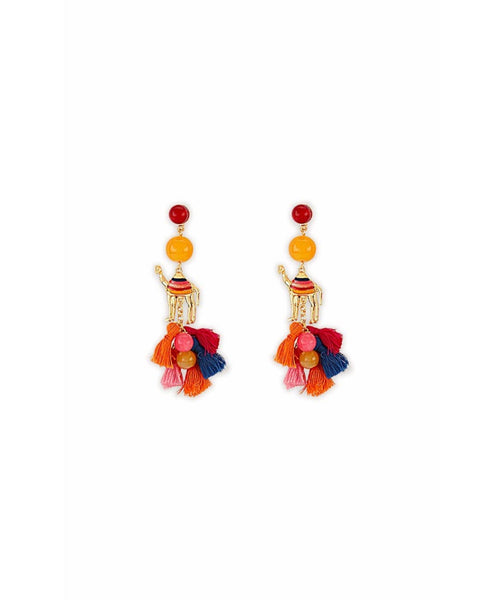 Coloured Camel Earrings - Uptownie