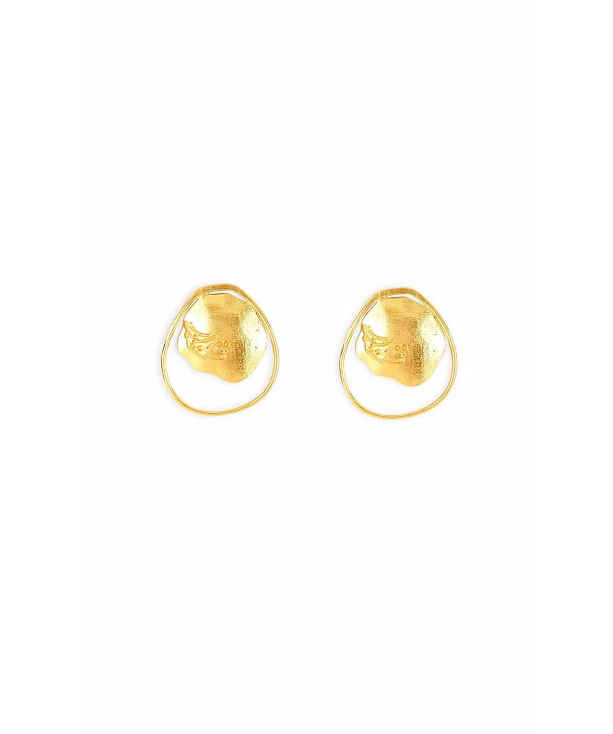 Contemporary Gold Earrings - Uptownie