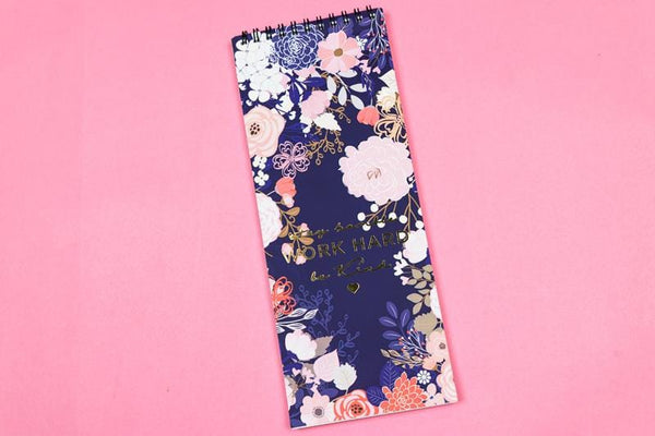 Blooming Oblong Notepad(Personalisation Available) - Uptownie
