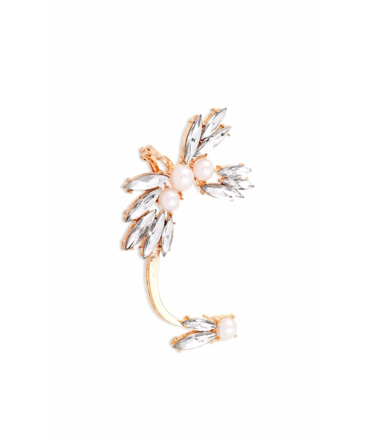 Crystal Wing Ear Cuff - Uptownie