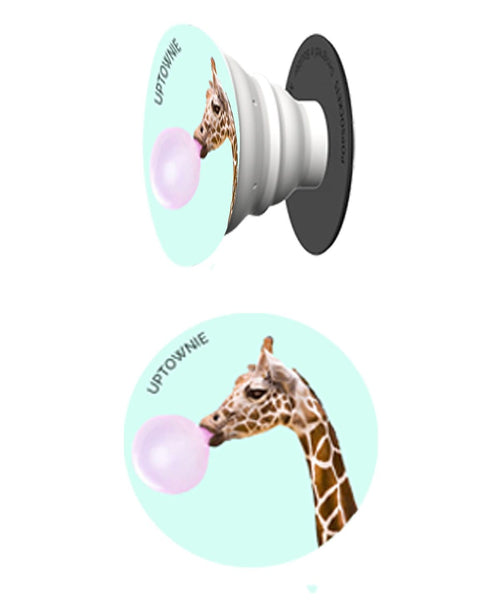 Cutesy Giraffe Print Pop Socket - Uptownie