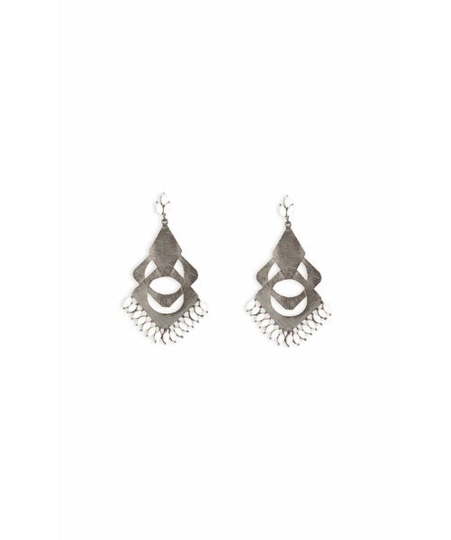 Cut-Out Silver Earrings - Uptownie