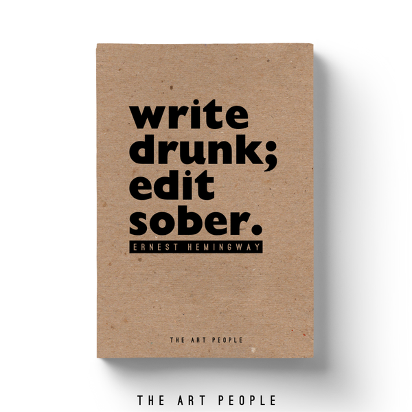 Write Drunk Notebook - Uptownie