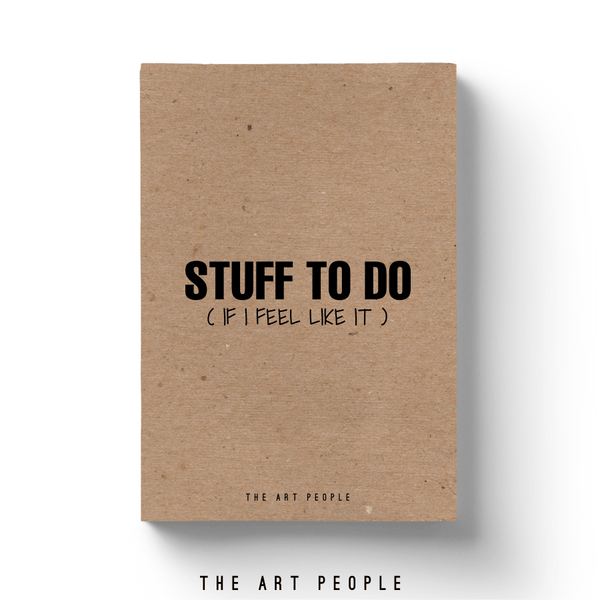 Stuff To Do Notebook - Uptownie