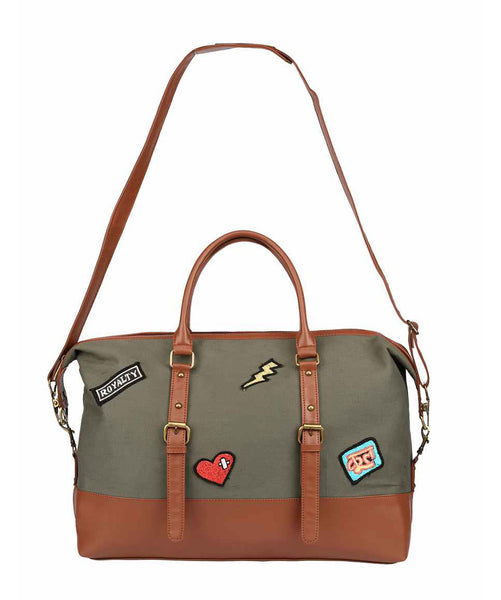 Uptownie X 2AM-The Olive Patch Pin Duffle
