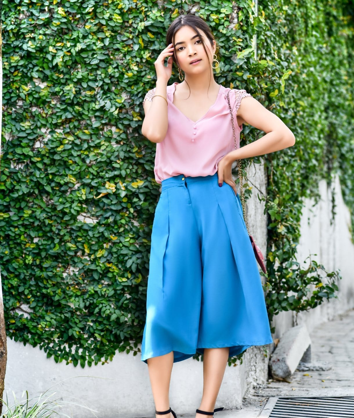 Sky Blue Adjustable Culottes