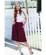 Maroon Knee Adjustable Culottes