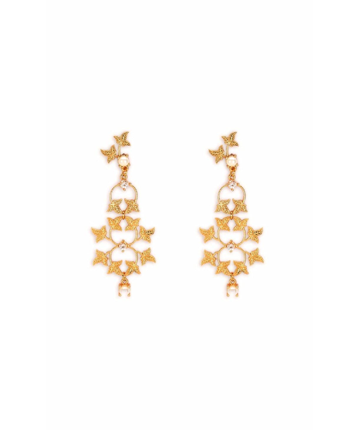 Dainty Gold Leaf Earrings - Uptownie