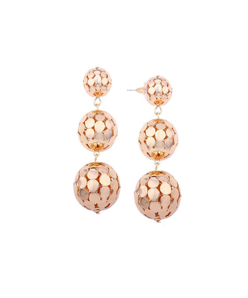 Disco Ball Gold Earrings - Uptownie