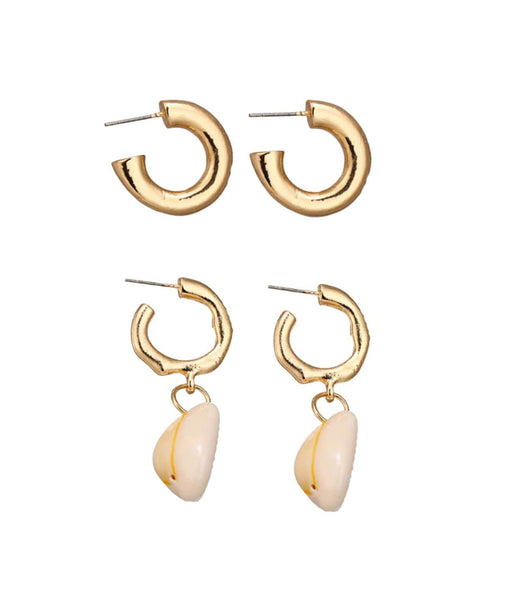 Shell Earrings Set