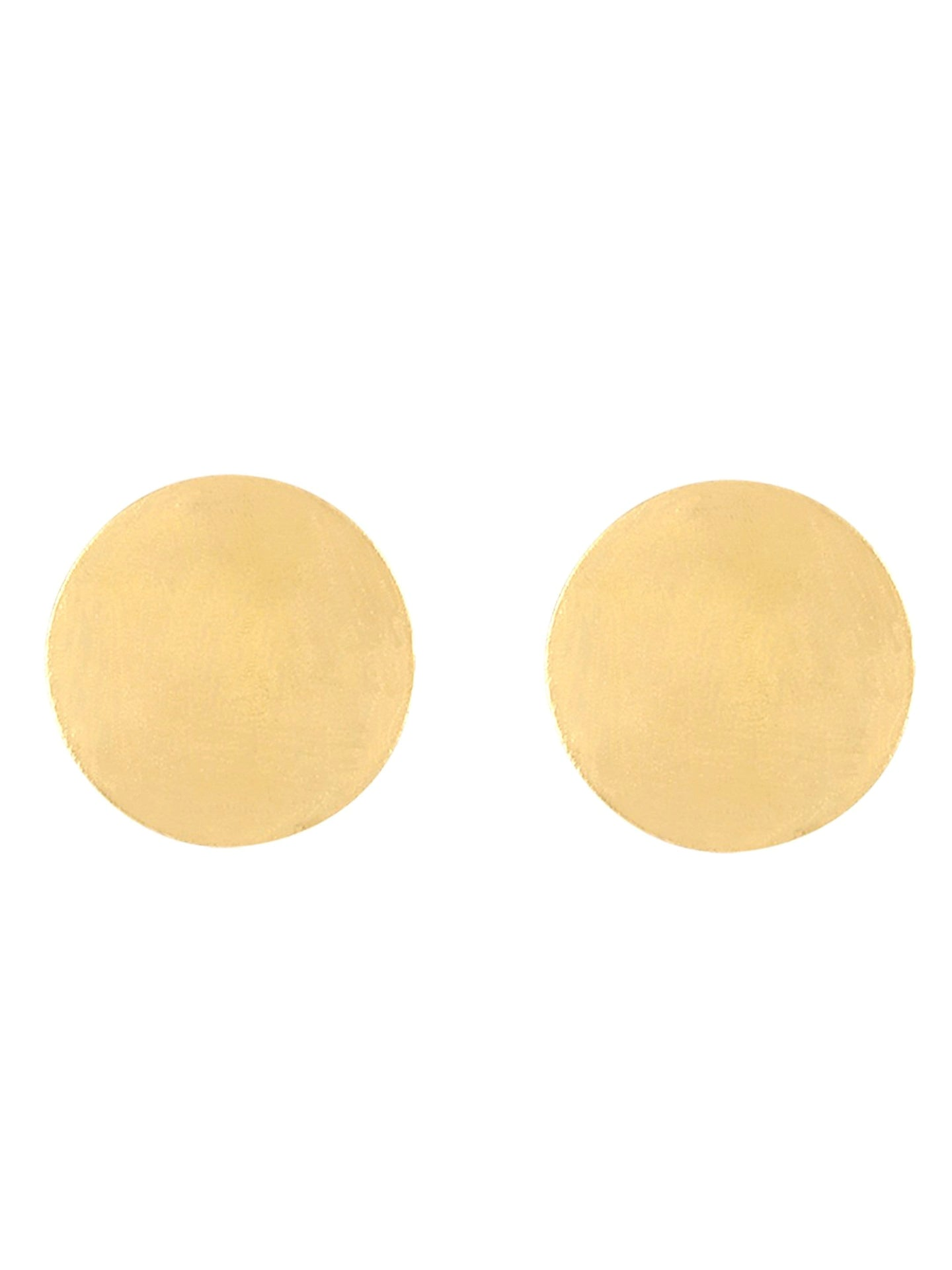 Gold Disc Earrings - Uptownie