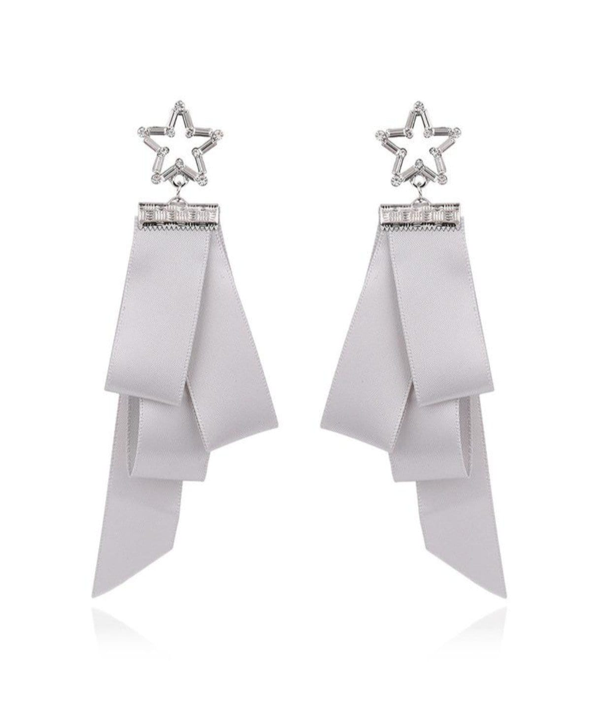 Star Ribbon Earrings - Uptownie