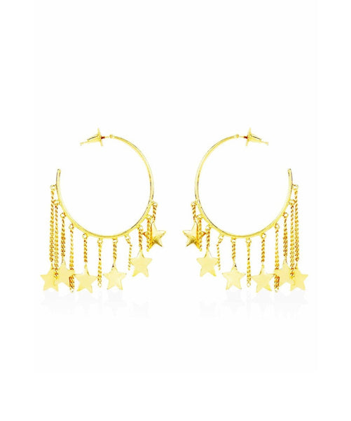 Star Hoop Earrings - Uptownie