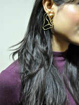 Hollow Figure Earrings - Uptownie