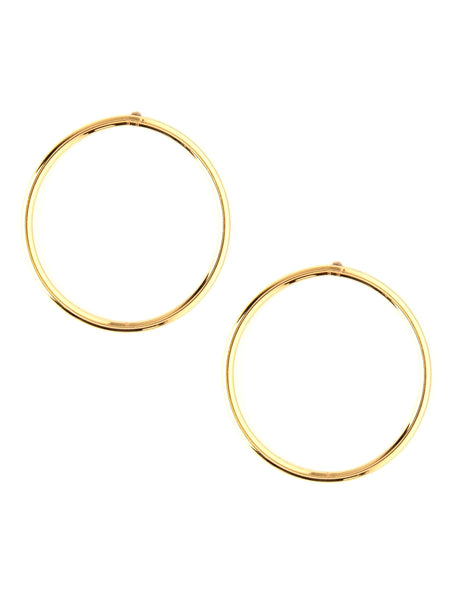 Circular Gold Earrings - Uptownie