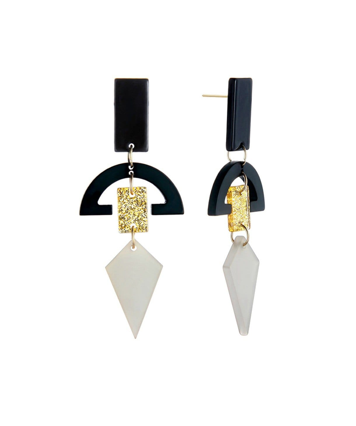 Geometric Acrylic Earrings - Uptownie