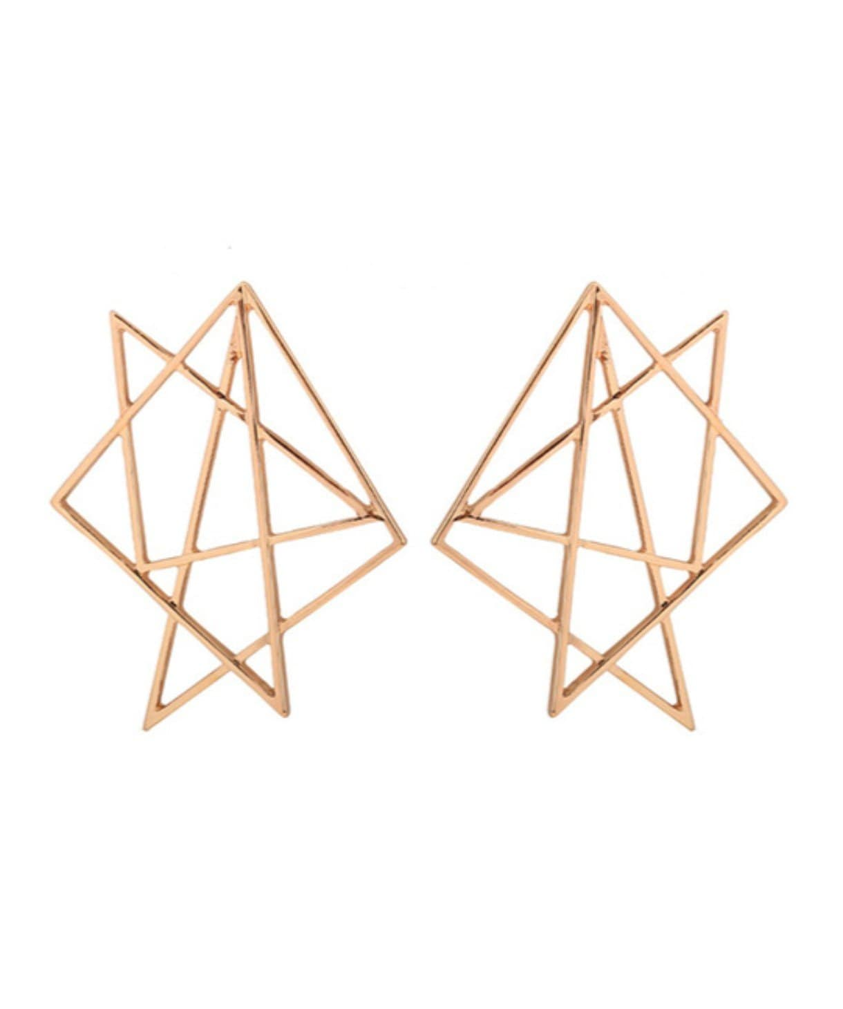 Geometric Haze Stud Earrings - Uptownie