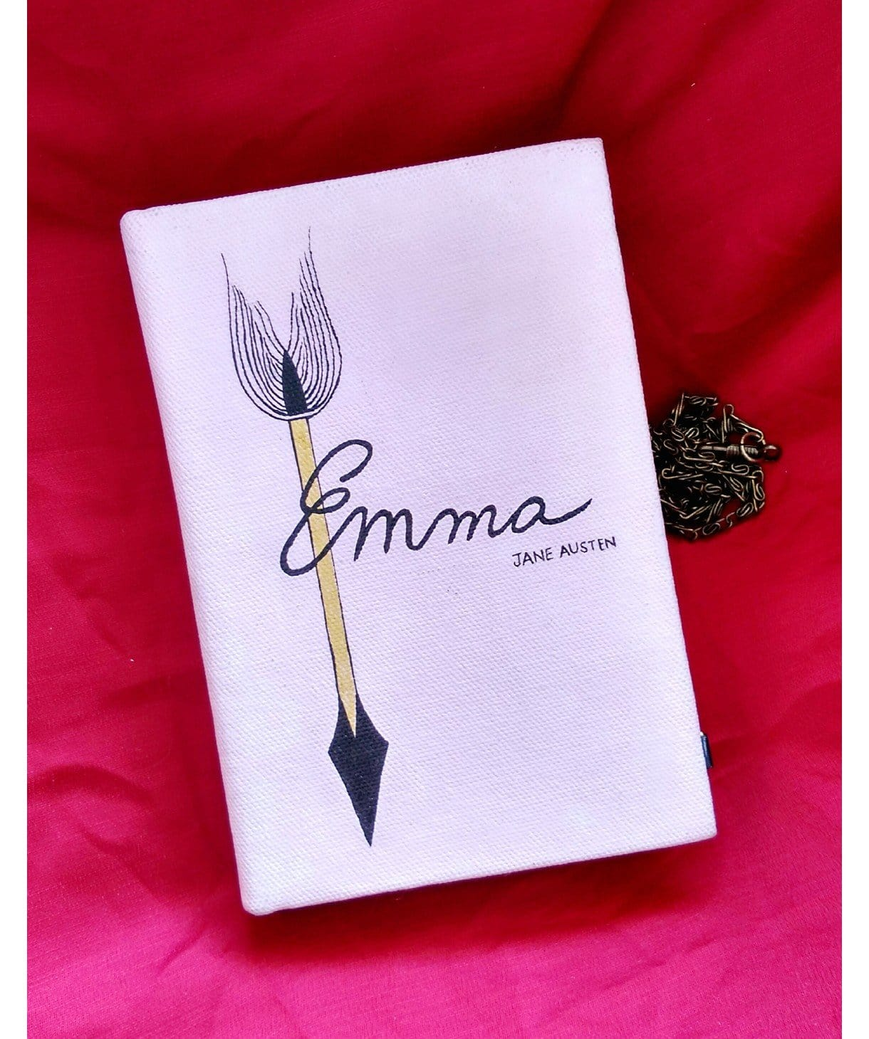 Emma Handpainted Box Clutch - Uptownie