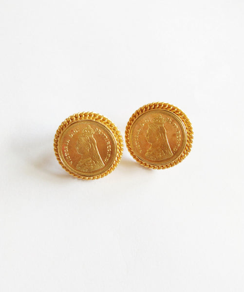 Uptownie X Bling-Coin Round Earrings