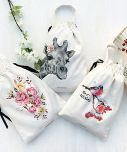Utility/ Gift Bags (L) - Wild & Graceful(Pack of 3)