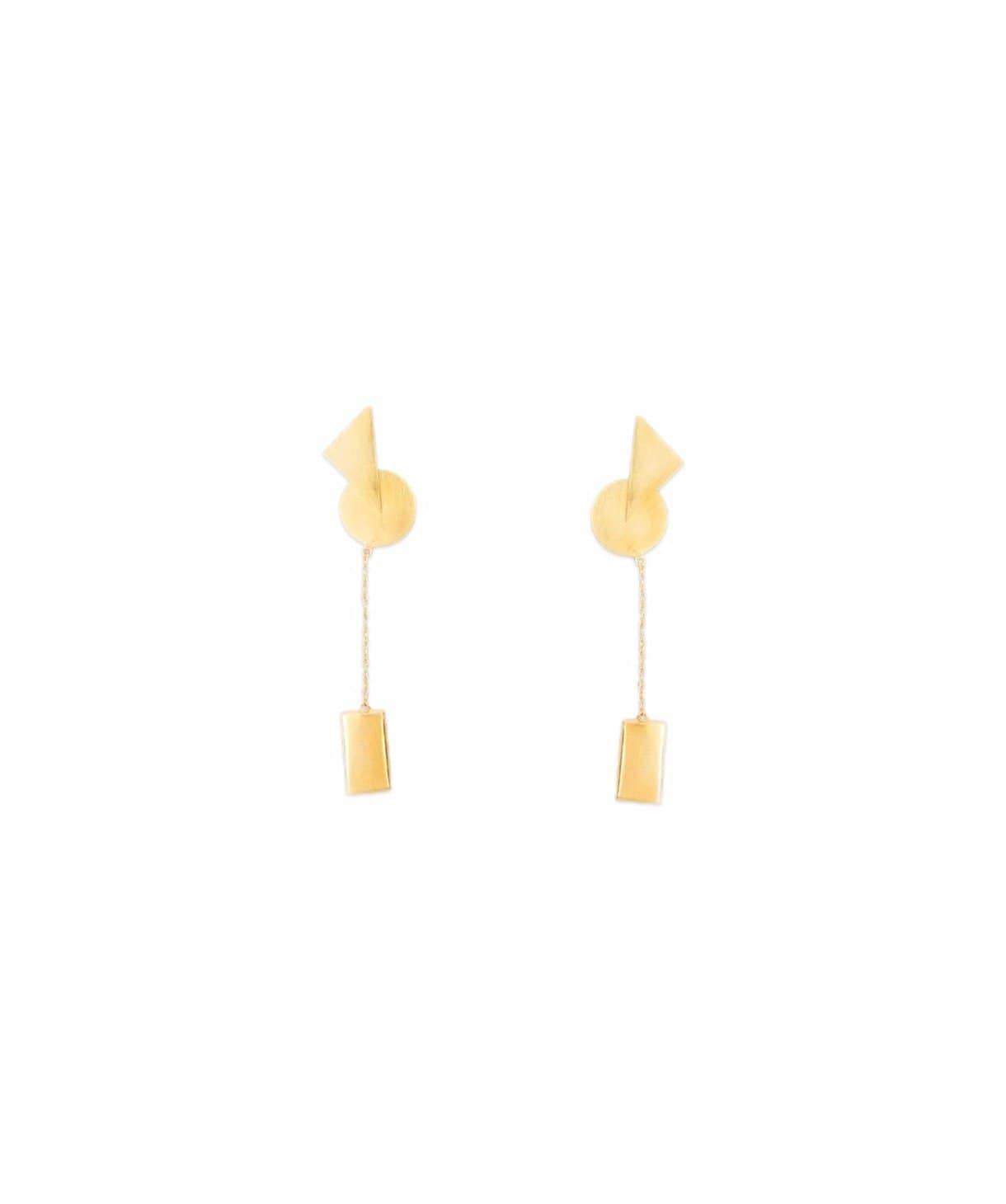 Geometric Gold Earrings - Uptownie