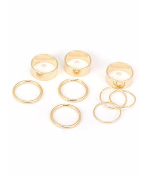 Gold Cuff Rings - Uptownie
