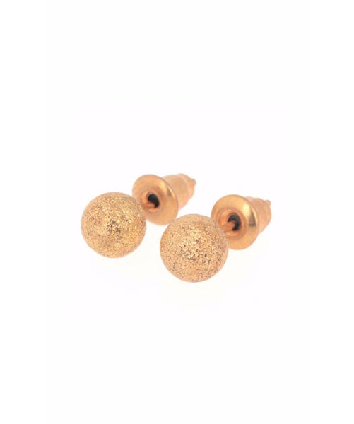 Gold Textured Studs - Uptownie