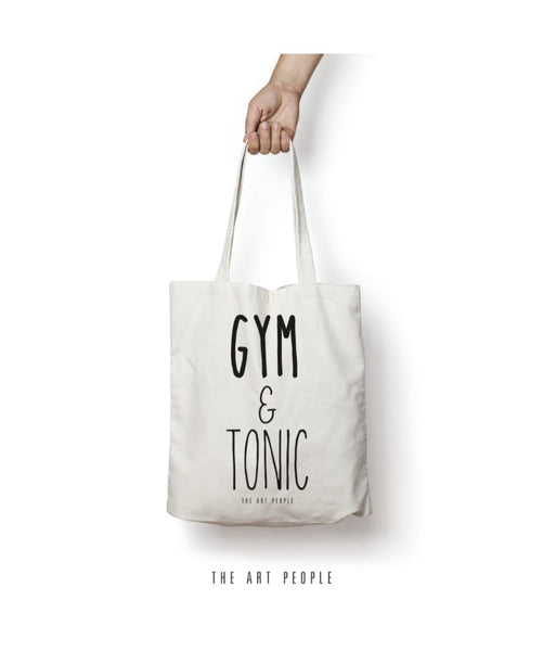 Gym & Tonic Tote Bag. Uptownie.