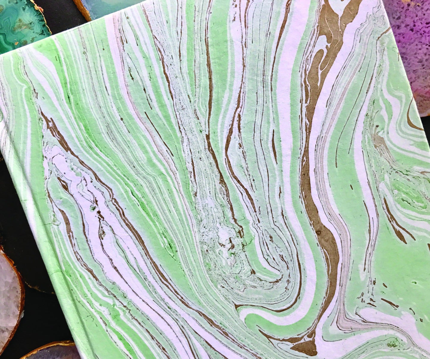 Hand Marbled Diary(Personalisation Available) - Uptownie
