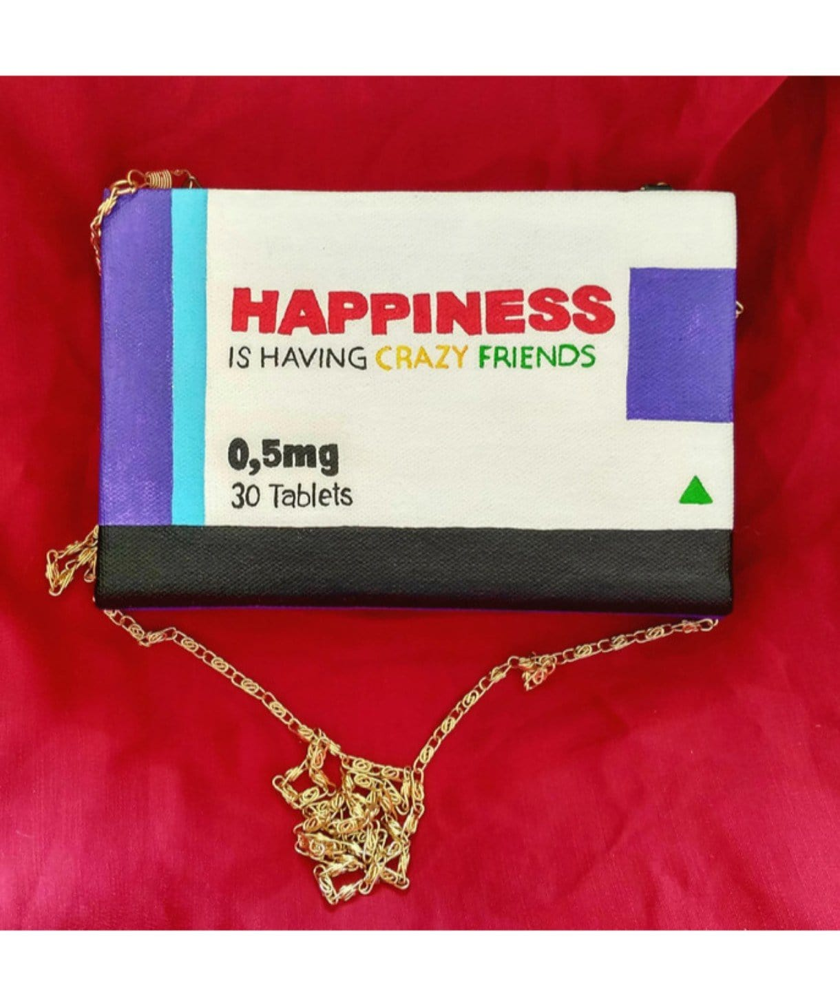 Happiness Dosage Box Clutch - Uptownie
