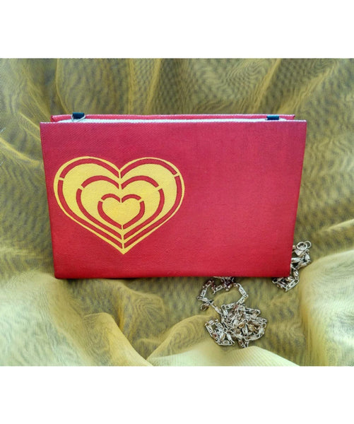 Heart Of Gold Box Clutch