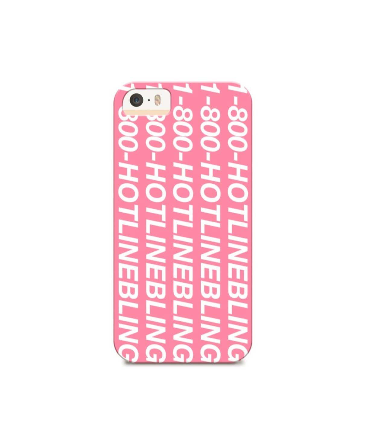 Hotline Bling Pink IPhone Cover (Personalition Available) - Uptownie
