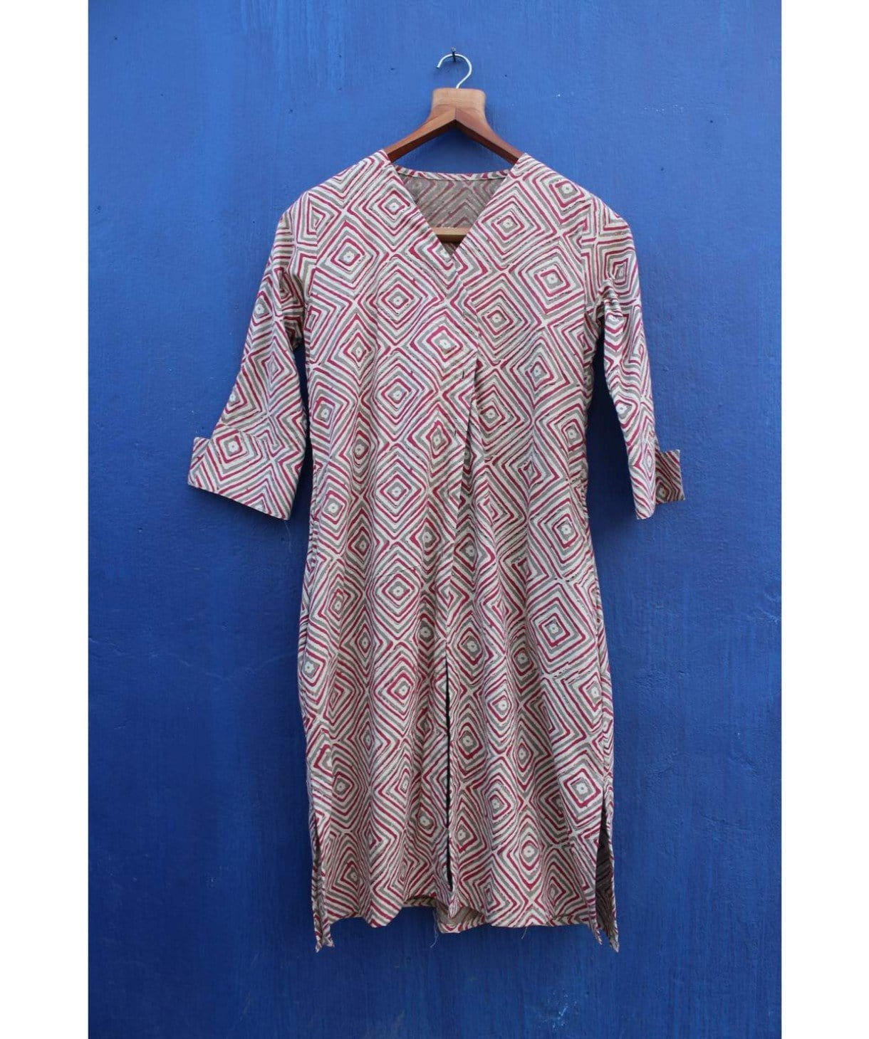 Diamond Print Cotton Kurti