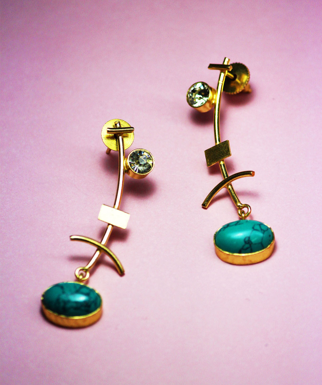 Uptownie X Bling-Stick Drop Earrings