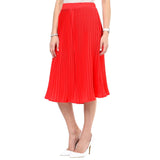 Uptownie Bright Red Pleated Adjustable Culottes 2 clearance sale