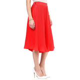 Uptownie Bright Red Pleated Adjustable Culottes 3 clearance sale