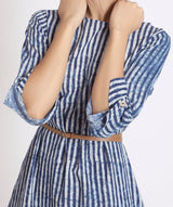 Striped Blue Cotton Kurti/Dress